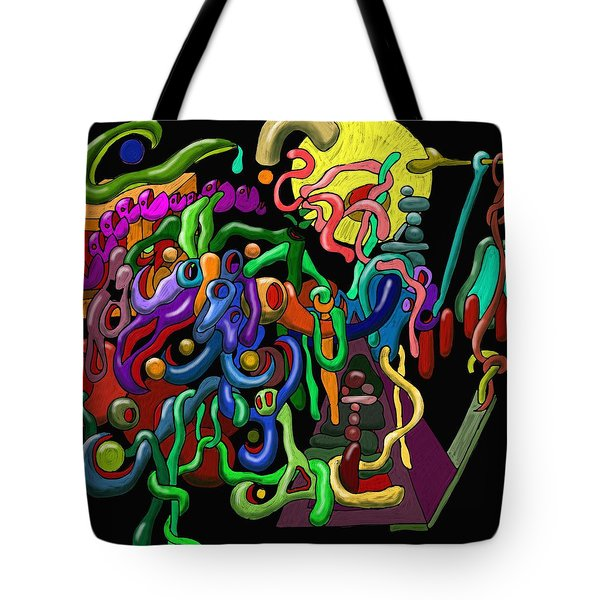 Worm Playground Tote Bag