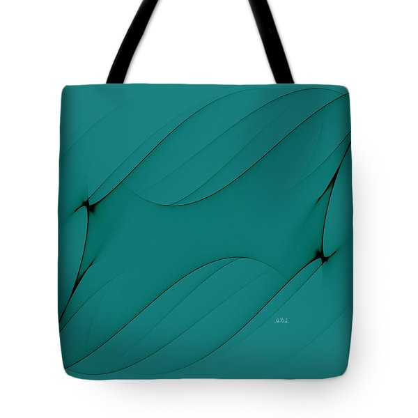 Wormhole In Turquoise  Tote Bag by Angela A Stanton