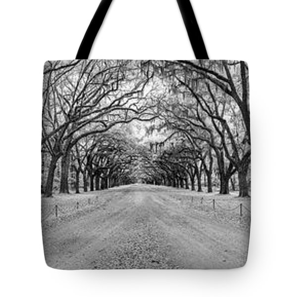 Tote Bag featuring the photograph Wormsloe Pathway by Jon Glaser