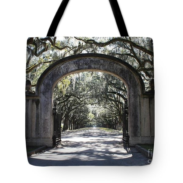 Wormsloe Plantation Gate Tote Bag