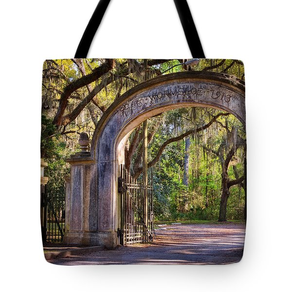 Wormsloe Plantation Gate Tote Bag