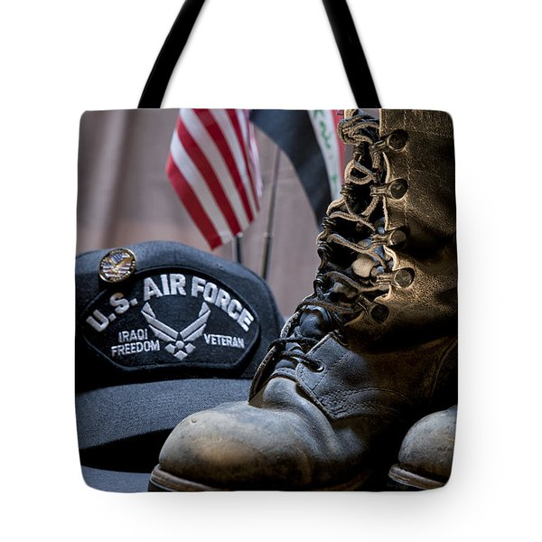 Tote Bag featuring the photograph Worn Out Veteran by Melany Sarafis
