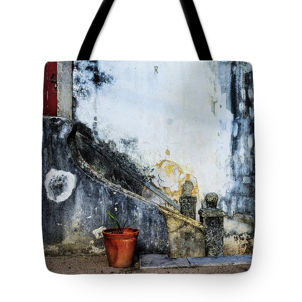 Tote Bag featuring the photograph Worn Palace Stairs by Marion McCristall