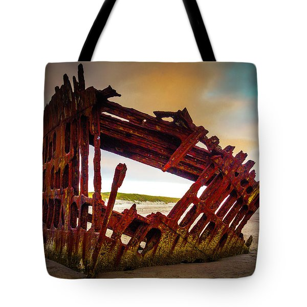 Worn Rusting Shipwreck Tote Bag