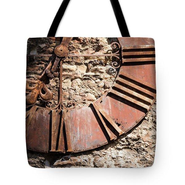 Worn Time Tote Bag by Rae Tucker