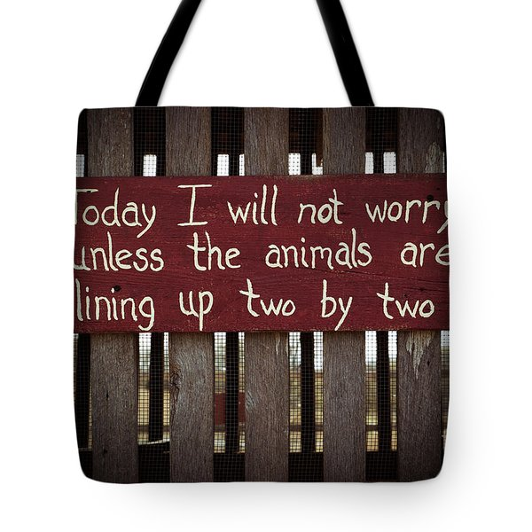 Worry Tote Bag by Lynn Sprowl