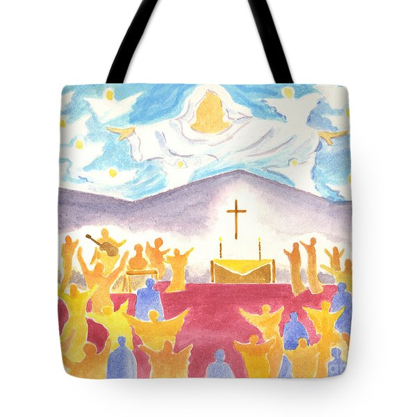 Worship God In Spirit And Truth Tote Bag
