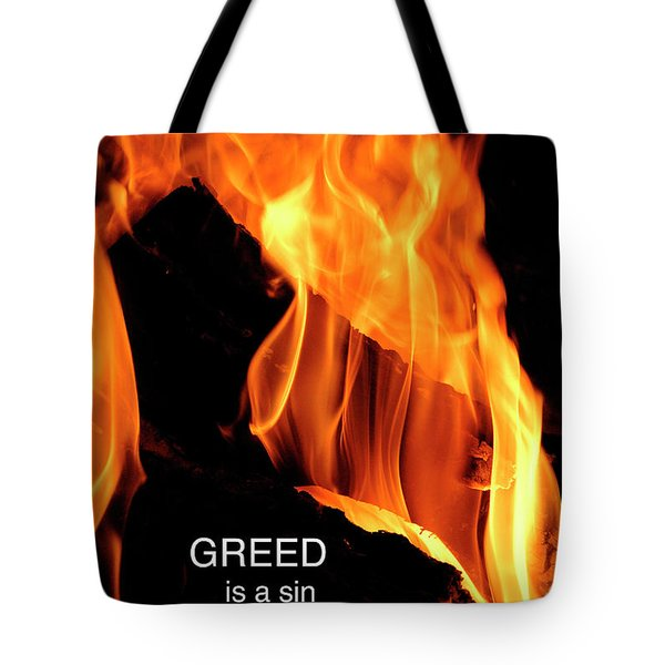 Tote Bag featuring the photograph worthy of HELL fire by Paul W Faust - Impressions of Light