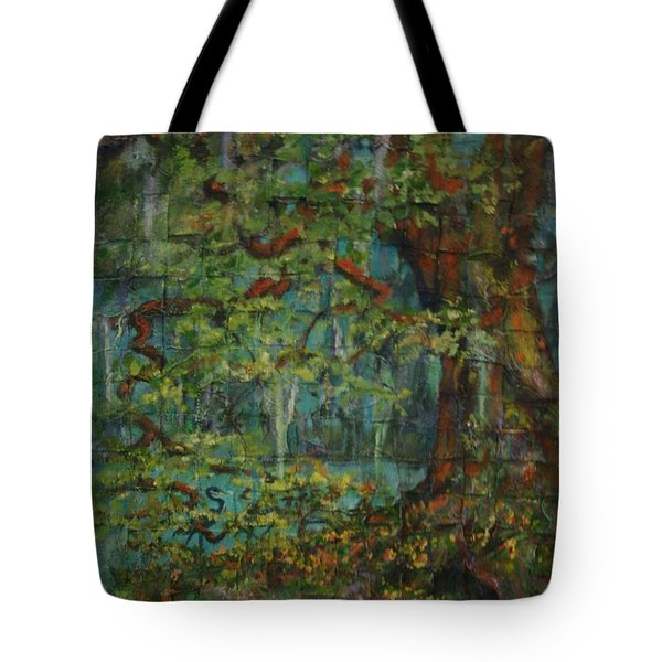Tote Bag featuring the painting Woven by Dorothy Allston Rogers