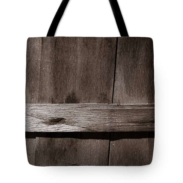 Woven Wood Tote Bag by Chris Bordeleau