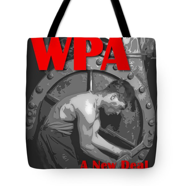 Tote Bag featuring the digital art A New Deal For America by Chuck Mountain