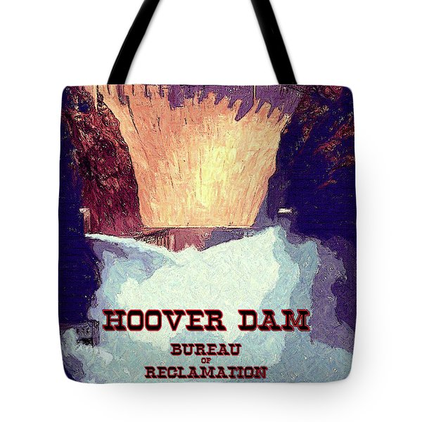 Wpa_hoover Dam Tote Bag by Chuck Mountain