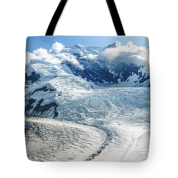 Tote Bag featuring the photograph Wrangell Alaska Glacier by Benny Marty