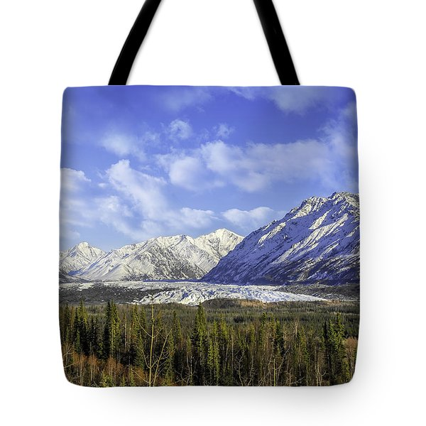 Wrangell Mountains Glacier Alaska Tote Bag