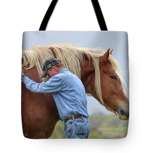 Wrangler Jeans And Belgian Horse Tote Bag