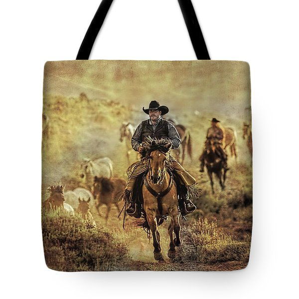 A Dusty Wyoming Wrangle Tote Bag