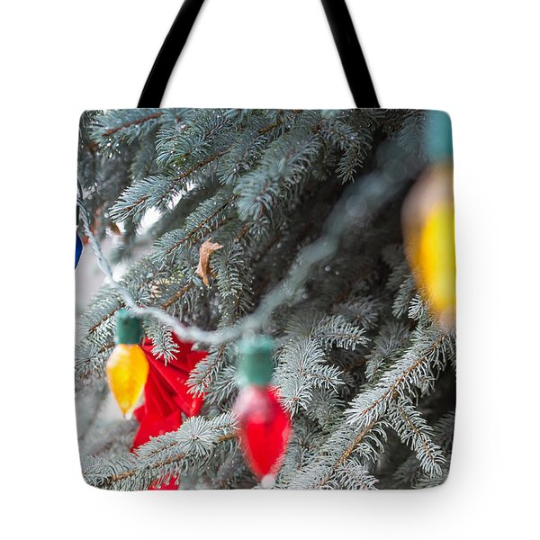 Tote Bag featuring the photograph Wrap A Tree In Color by Lora Lee Chapman