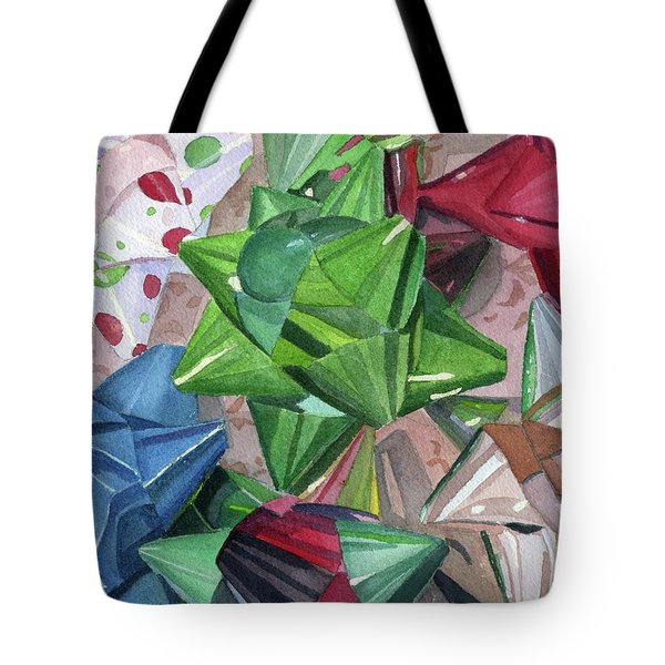 Tote Bag featuring the painting Wrap It Up by Lynne Reichhart