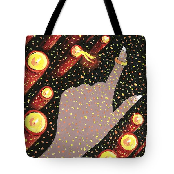 Wrapped Around My Finger Tote Bag