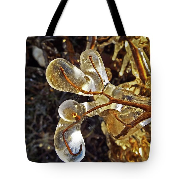 Wrapped In Ice Tote Bag