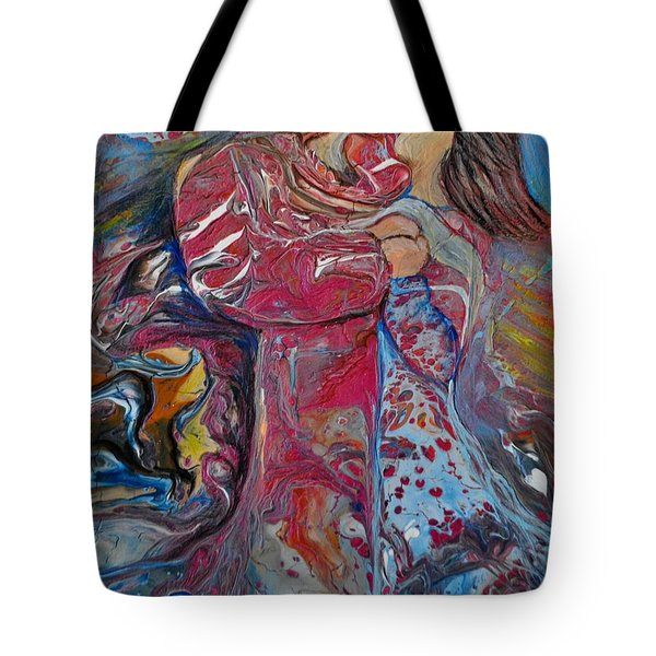 Tote Bag featuring the painting Wrapped In Your Love by Deborah Nell