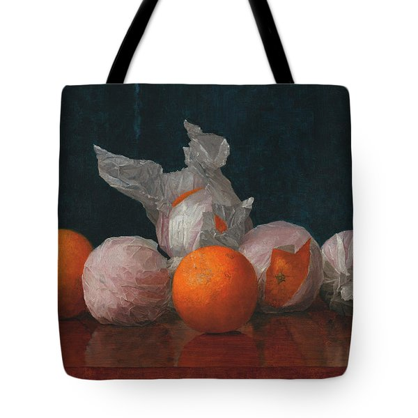 Wrapped Oranges Tote Bag