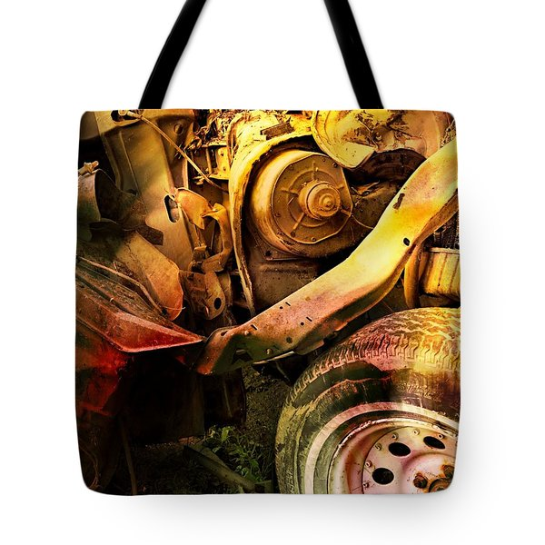Tote Bag featuring the photograph Wreck Close Up by Dutch Bieber