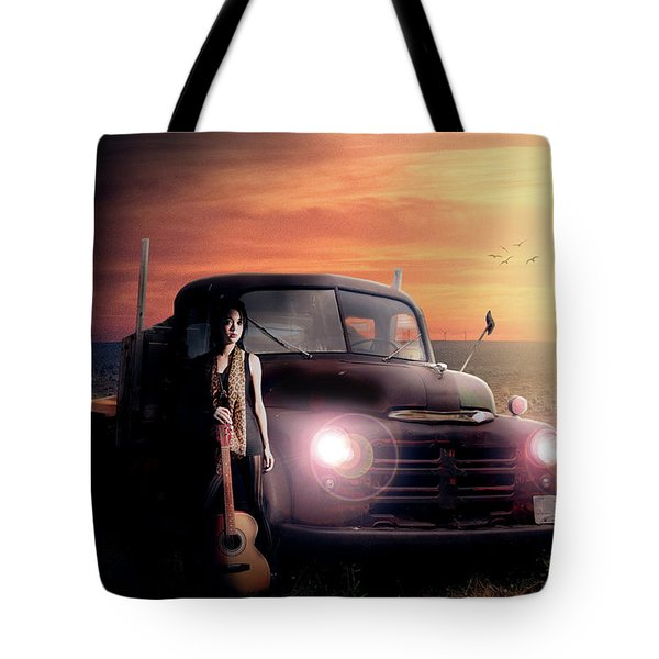 Tote Bag featuring the digital art Wrecked  by Nathan Wright
