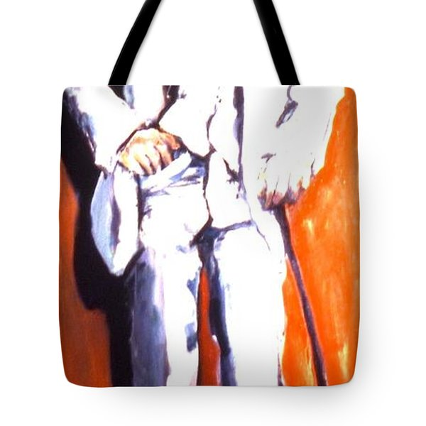 Tote Bag featuring the painting Wresch by Les Leffingwell