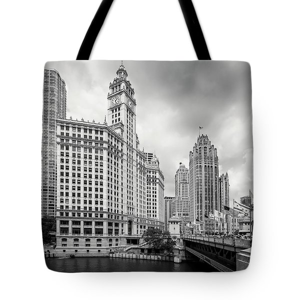 Tote Bag featuring the photograph Wrigley Building Chicago by Adam Romanowicz