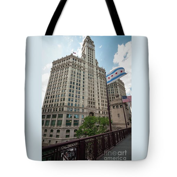 Wrigley Building Tote Bag
