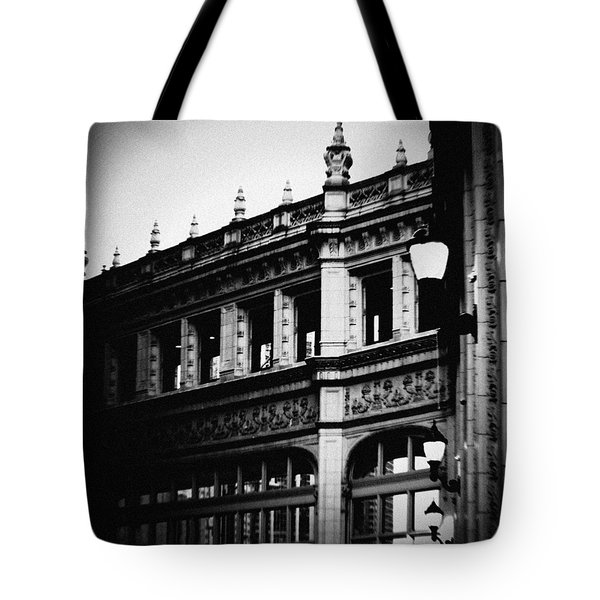 Tote Bag featuring the photograph Wrigley Building Square by Kyle Hanson