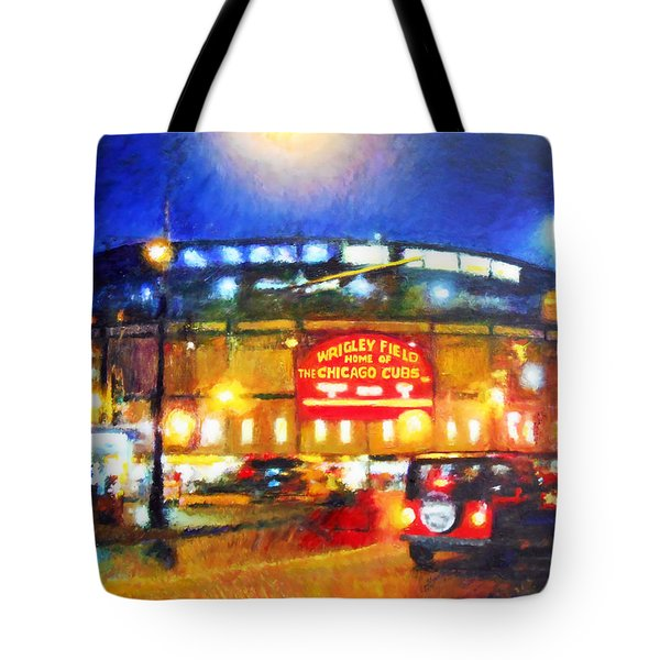 Wrigley Field Home Of Chicago Cubs Tote Bag
