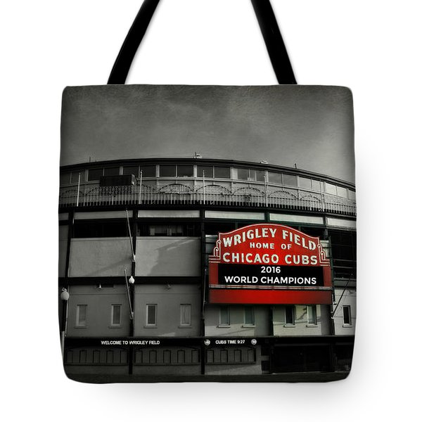 Wrigley Field Tote Bag by Stephen Stookey