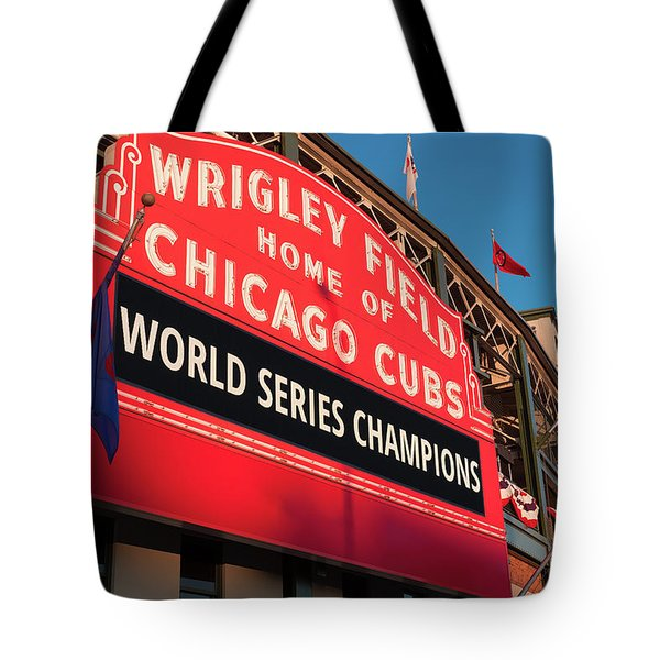 Wrigley Field World Series Marquee Angle Tote Bag
