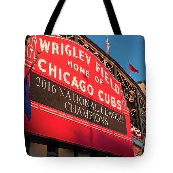 Wrigley Field Marquee Angle Tote Bag