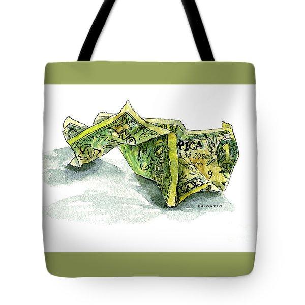 Wrinkled Dollar Tote Bag
