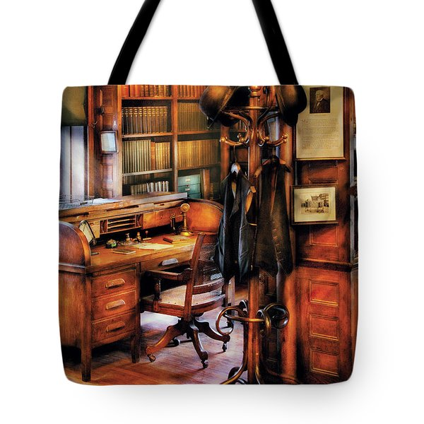Writer - A Hard Day At Work Tote Bag by Mike Savad