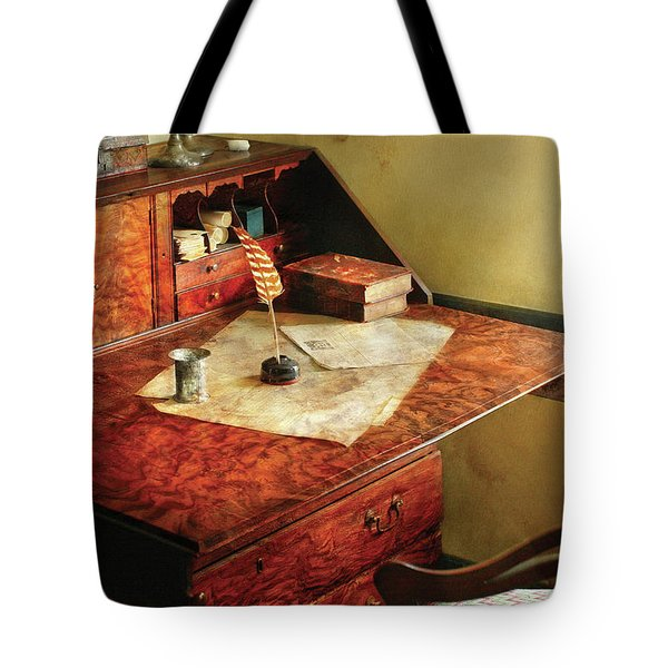 Writer - The Journeys Of An Explorer Tote Bag by Mike Savad