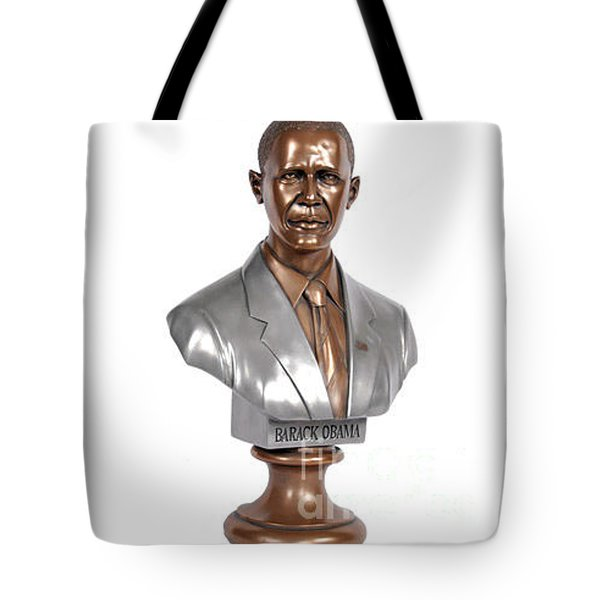 Obama Bronze Bust Tote Bag