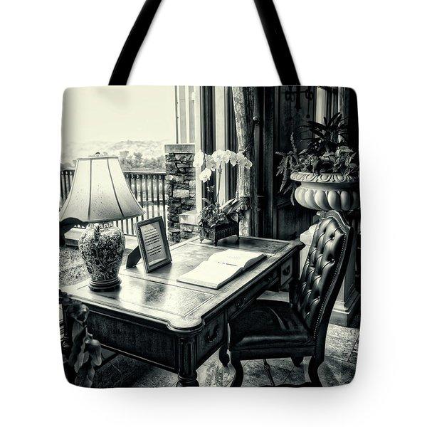 Writing Desk Bw Series 0808 Tote Bag