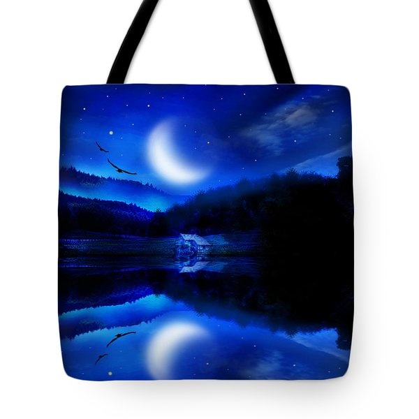Written In The Stars Tote Bag by Bernd Hau