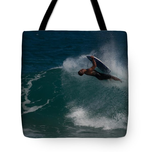 Wrong Side Up Tote Bag by Roger Mullenhour