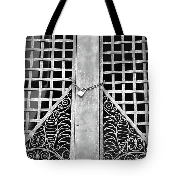 Tote Bag featuring the photograph Wrought Lock by Jost Houk