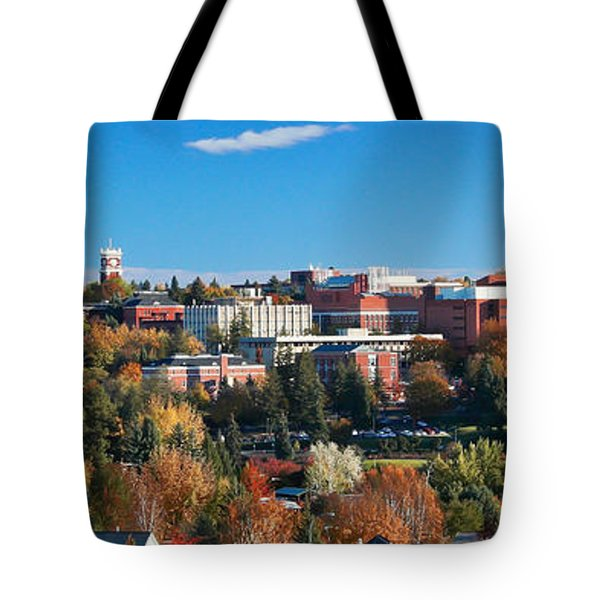 Wsu Autumn Panorama Tote Bag