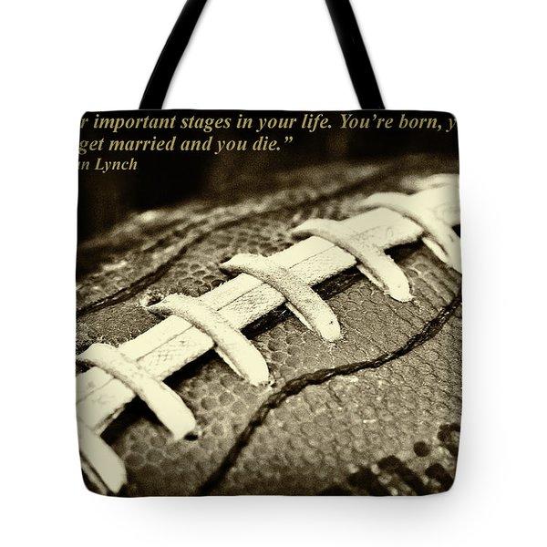 Wsu Cougar Dan Lynch Quote Tote Bag by David Patterson