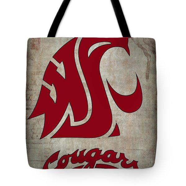 W S U Cougars Tote Bag