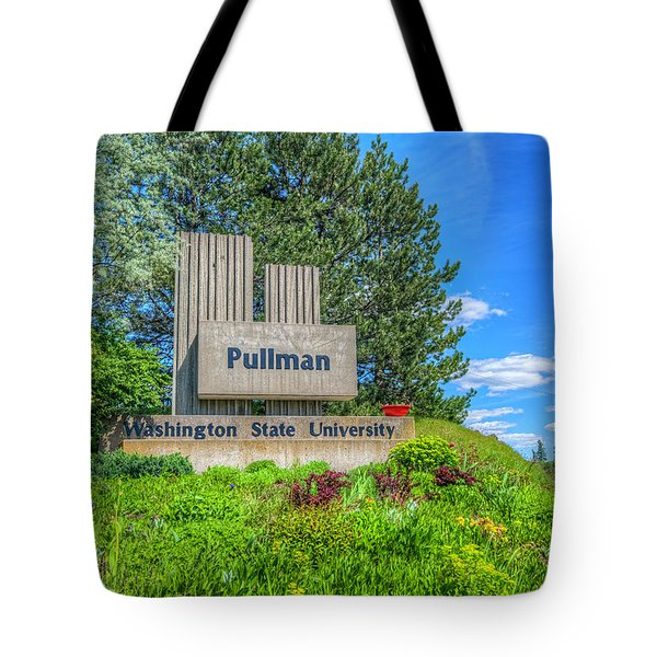 Wsu Welcome To Pullman Tote Bag