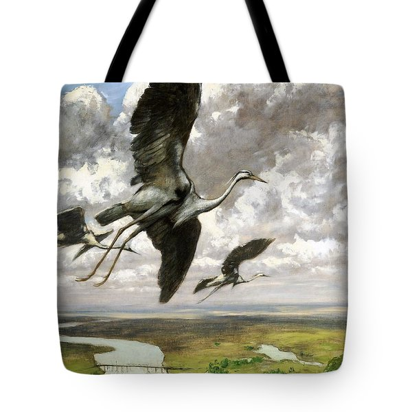 Tote Bag featuring the painting Wundervogel by Pg Reproductions