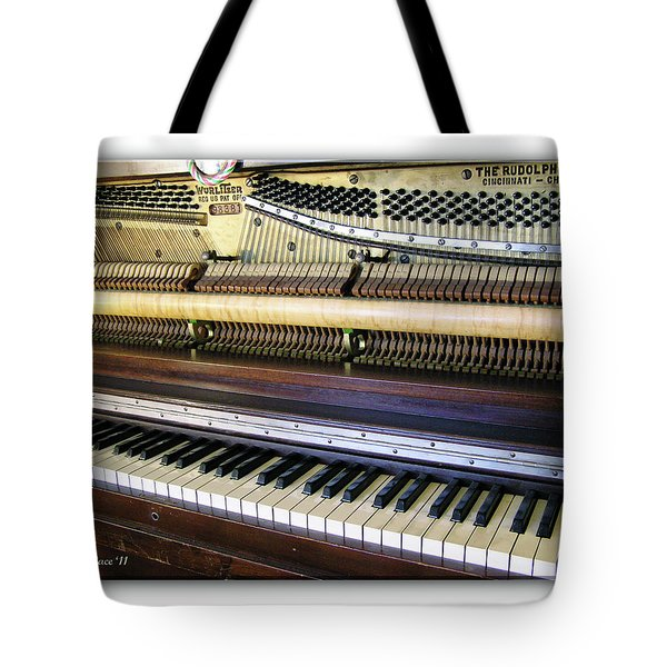 Wurlitzer Piano Tote Bag by Brian Wallace
